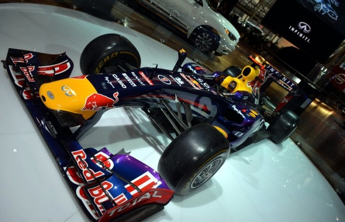 Infiniti again had a Red Bull F1 car on hand