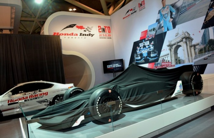 What could be under wraps in the Honda booth?