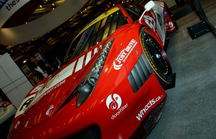 The AIM Autosport Tudor Sports Car Series Ferrari 458, sadly without a date after the show