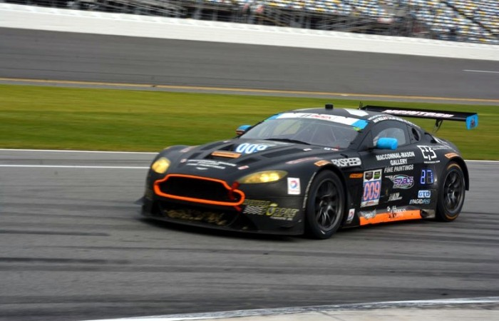 The 009 Aston Martin Vantage co-driven by Max Riddle. James Bond would be proud.